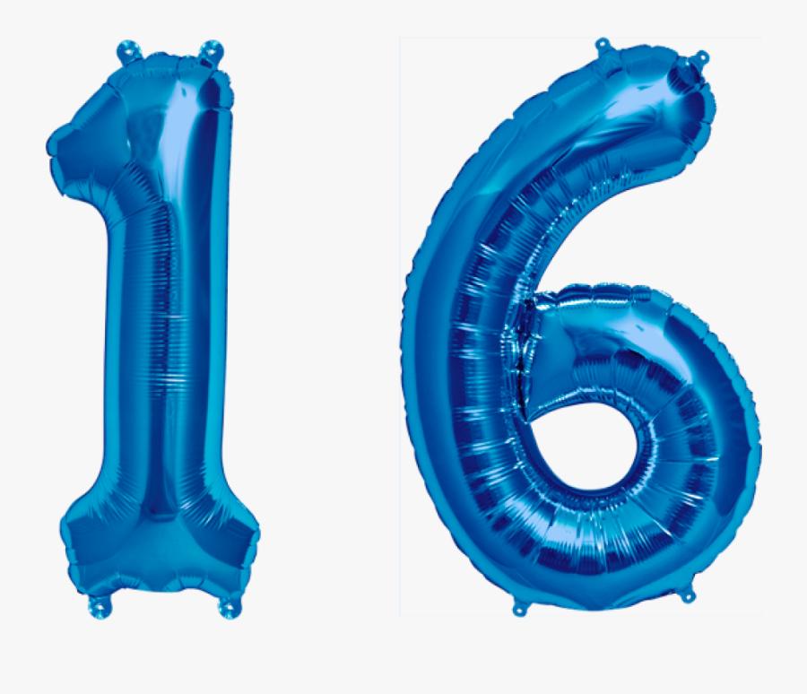 Folienballon Set Zahl - 16 Inch Foil Balloon Number Red, Transparent Clipart