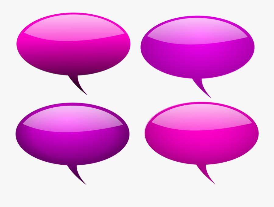 Pink,purple,balloon - Speech Bubble Purple Transparent 3d, Transparent Clipart