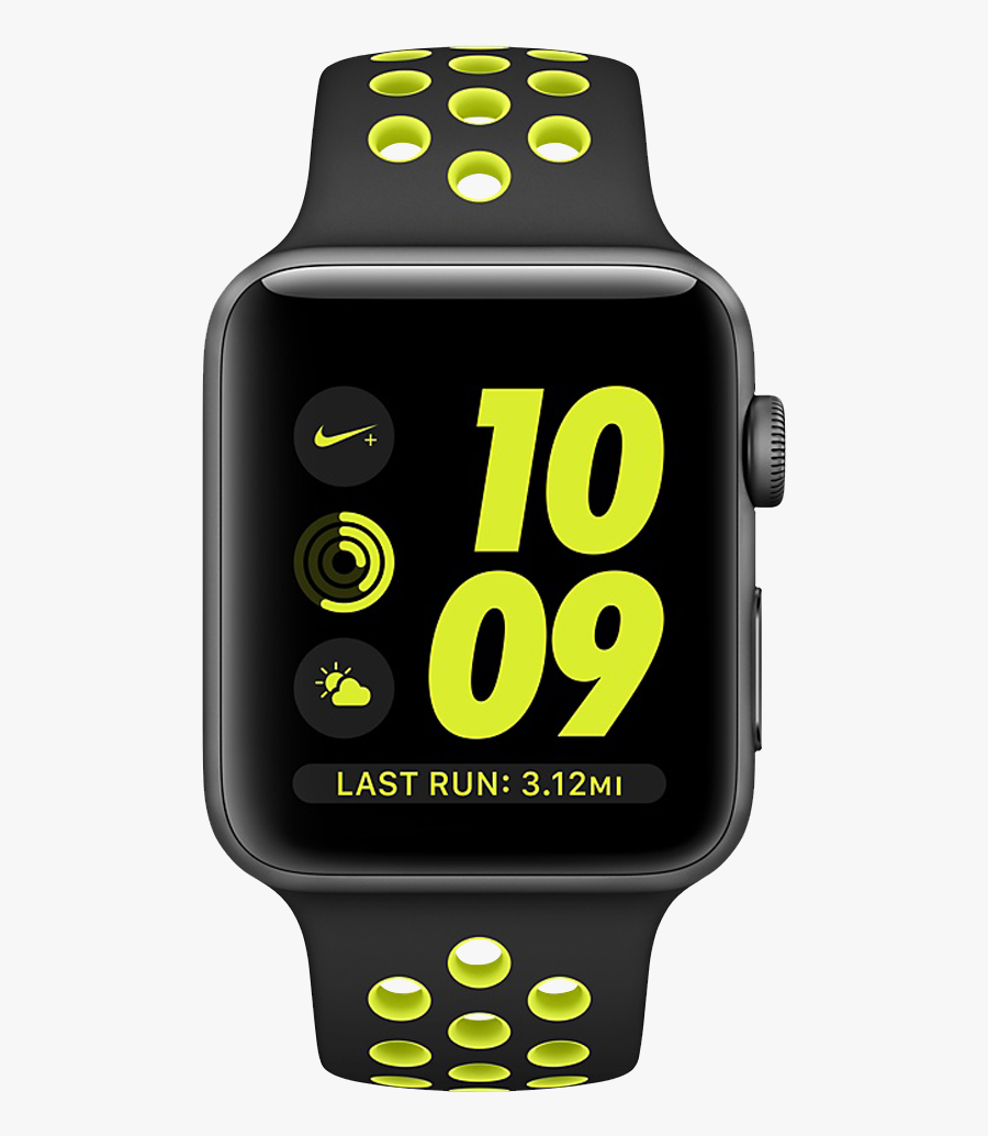 Clip Art With Transparent Background - Apple Watch Series 3 Nike Green, Transparent Clipart