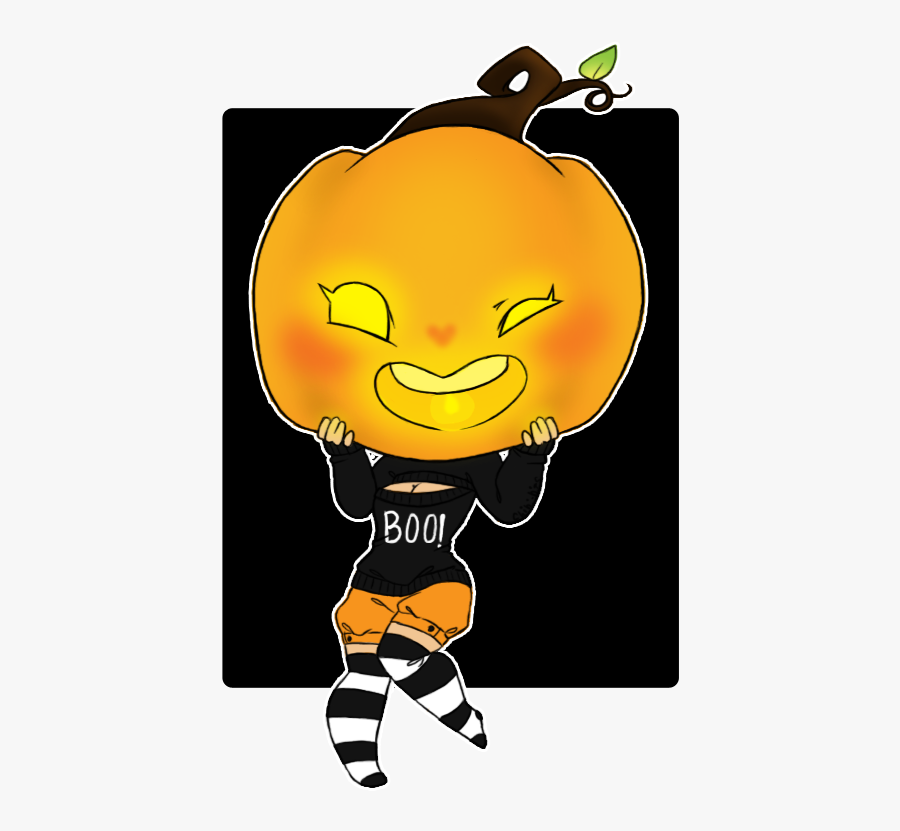 Chibi Clipart Clip Art - Chibi Pumpkin Girl, Transparent Clipart