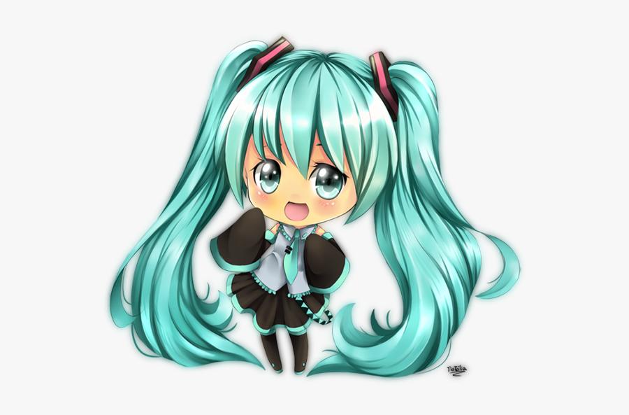 Hatsune Miku Clipart Cute Chibi - Cute Hình Chibi Miku, Transparent Clipart