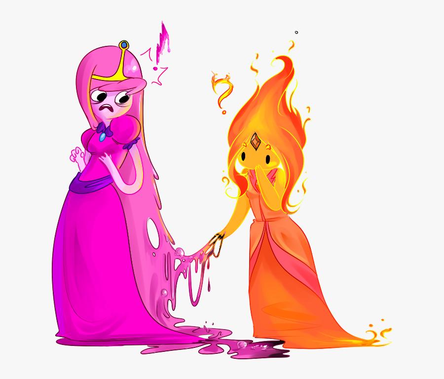 Princess Peach Clipart Transparent Tumblr - Flame Princess X Princess Bubblegum, Transparent Clipart