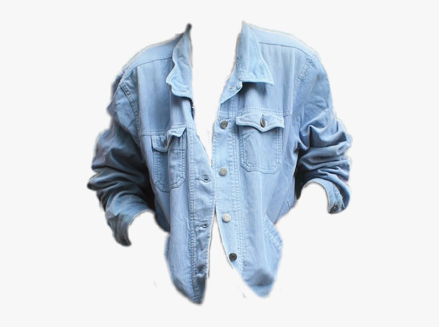 #jean Shirt jean Shirt jean Top blue Jean blue Up cuff tie - Picsart Jeans Shirt Png, Transparent Clipart