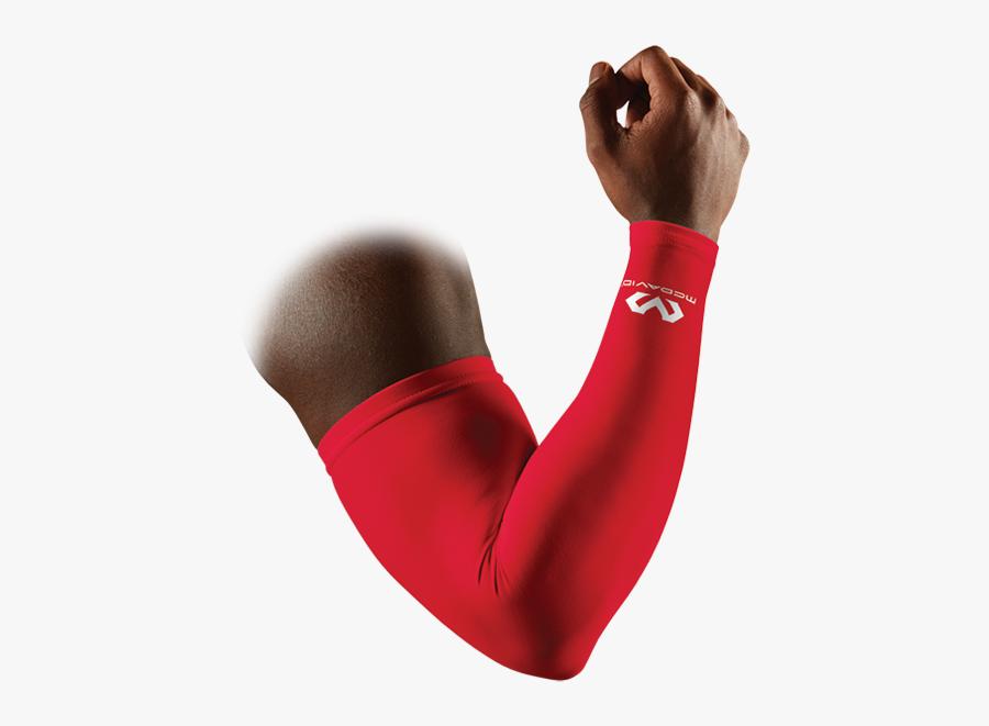 Compression Sleeve Single Mcdavidusa - Mcdavid Red Arm Sleeve, Transparent Clipart