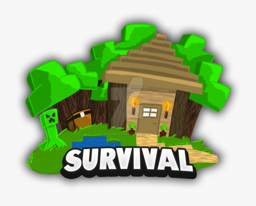 Survival By Fangurldraws On Minecraft Survival Logo Free Transparent Clipart Clipartkey