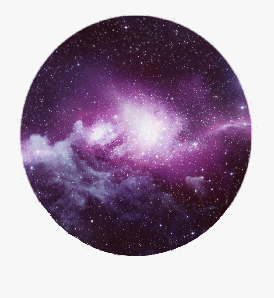 Transparent Tumblr Circle Png - Purple Blue Galaxy Background, Transparent Clipart
