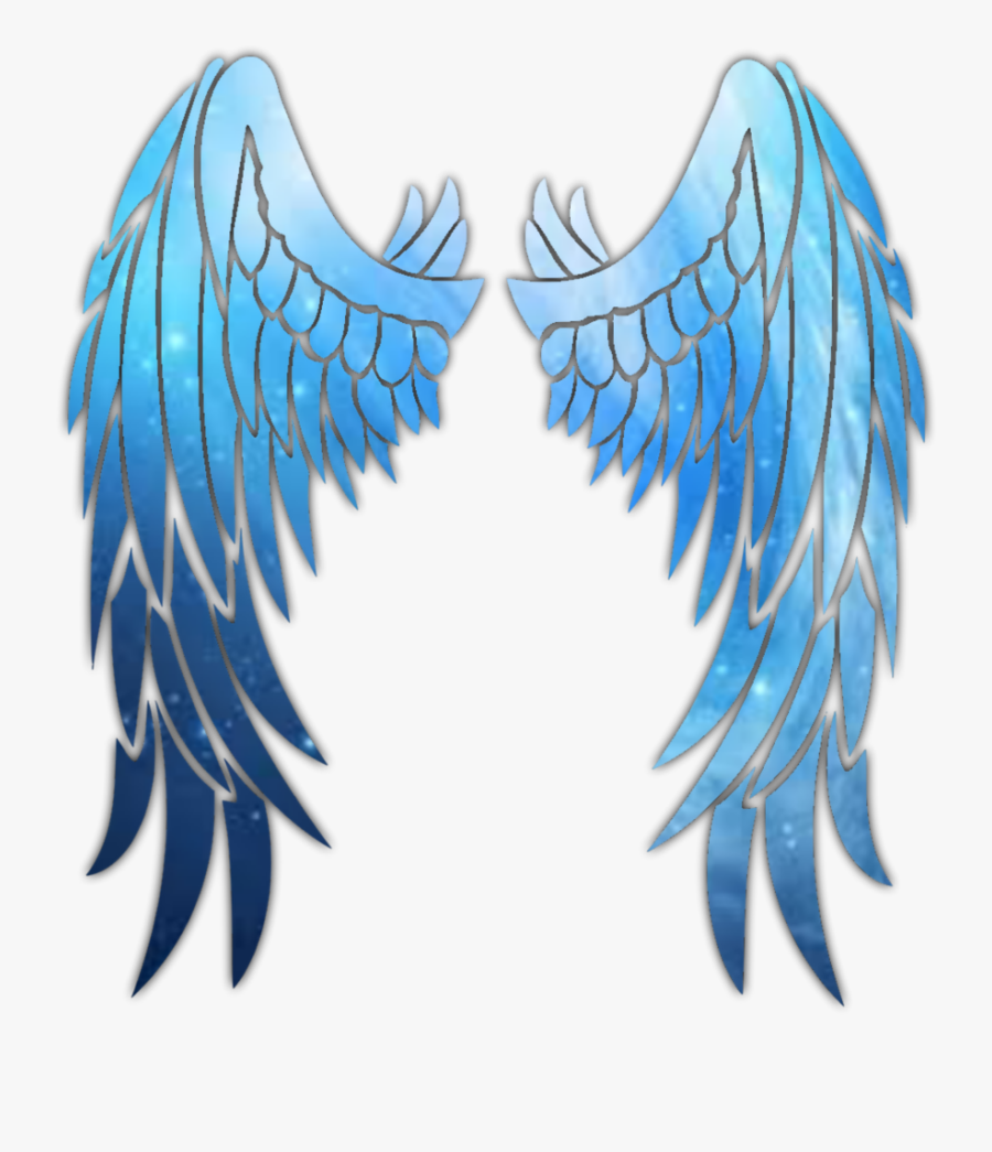 ##green #blue #neon #glowing #wings #swirl #spiral - Blue Neon Wings Png, Transparent Clipart