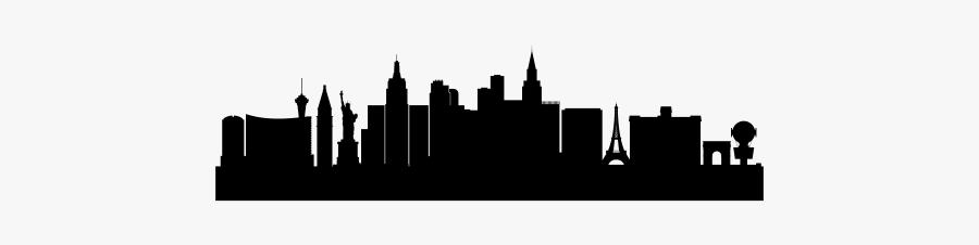 Las Vegas Skyline Art Cityscape - Skyline Las Vegas Png, Transparent Clipart
