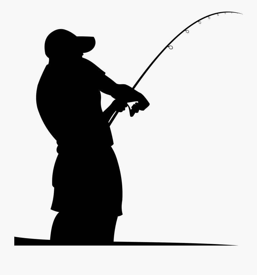 Fishing Rods Fisherman Silhouette - Fishing Rod Vector Png, Transparent Clipart