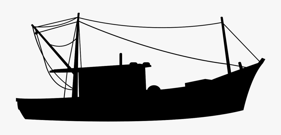 Fishing Boat Silhouette Vector Free Transparent Clipart Clipartkey