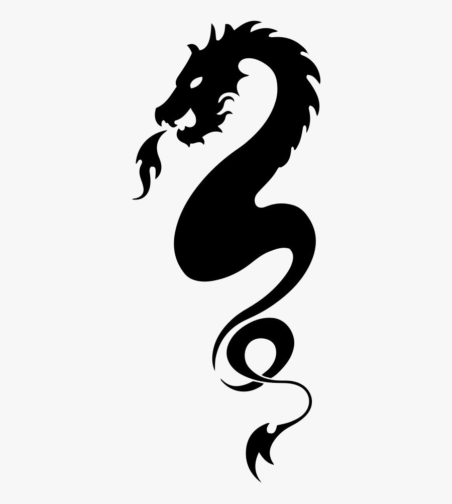 Tribal Dragon - Tribal Dragon Tattoos, Transparent Clipart