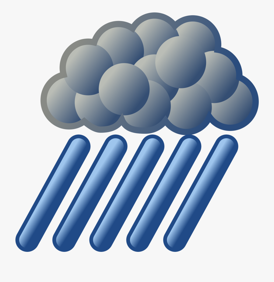 File Nuvola Weather Svg - Heavy Rain Weather Symbol, Transparent Clipart