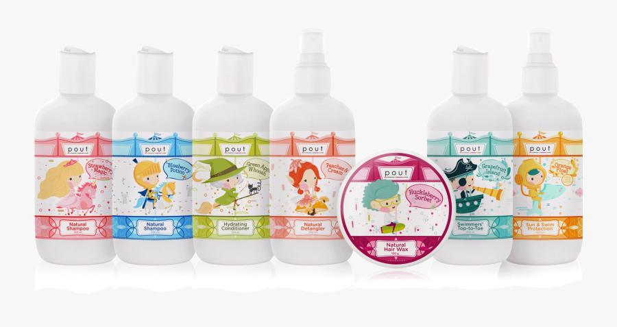 Pout Care Range For Children - Plastic Bottle, Transparent Clipart