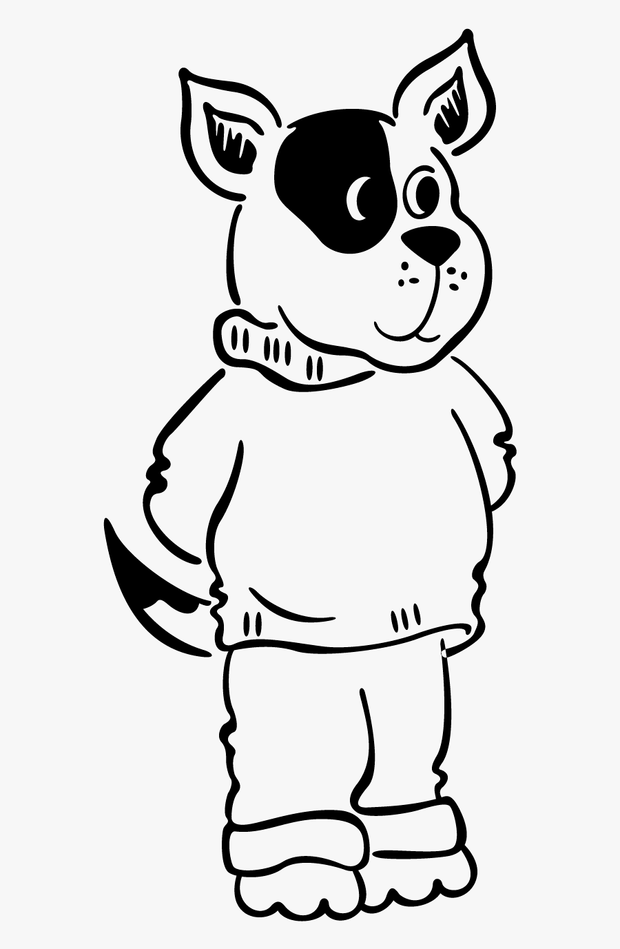 Dog Drawing Stand, Transparent Clipart