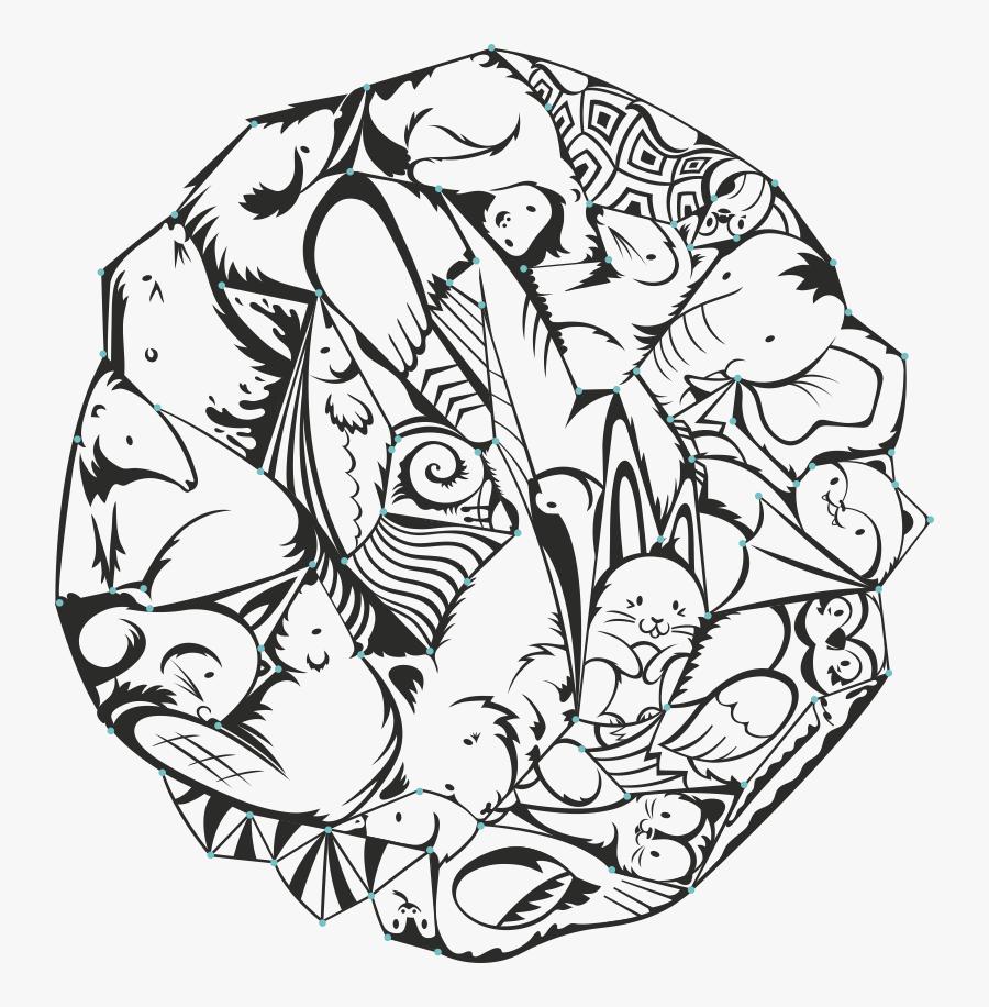 ###stickerart #shapes #easter #sick #bird #ideas #line - Line Art, Transparent Clipart