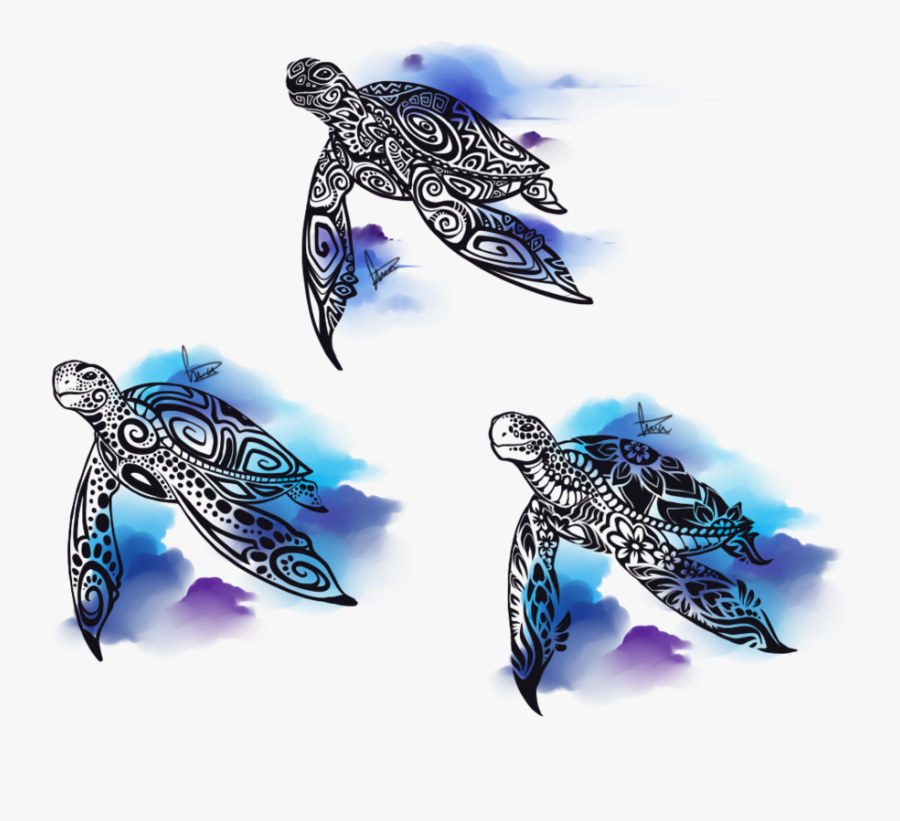 Tortoise Vector Tribal - Tribal Sea Turtle Drawing, Transparent Clipart