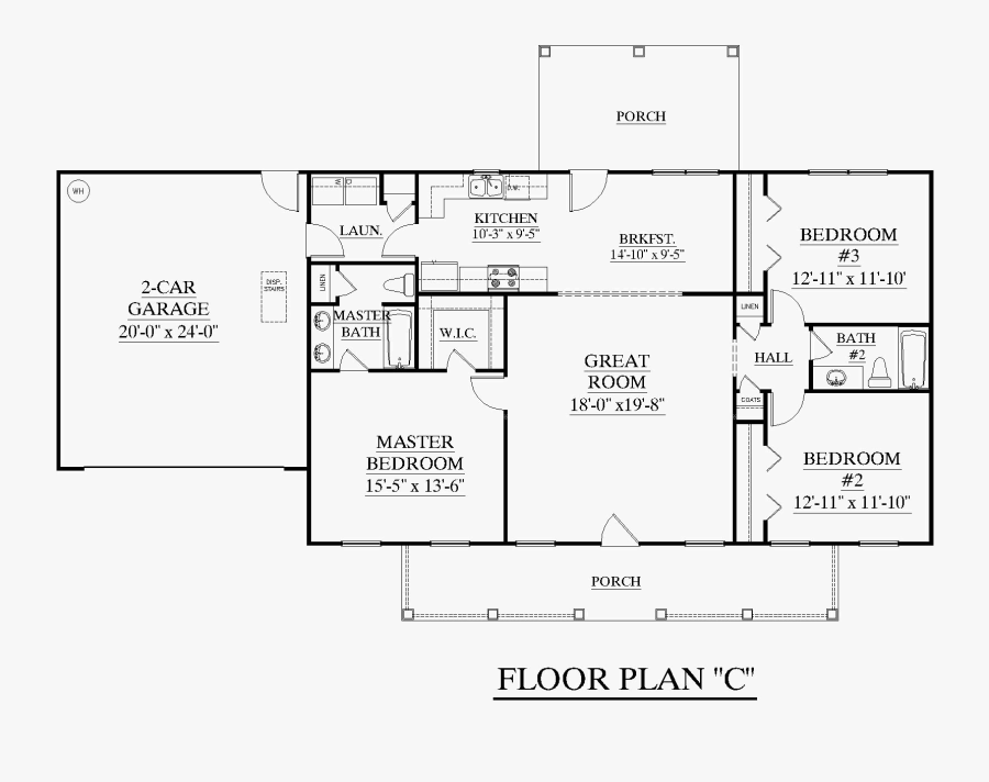 Clip Art Living Room Drawing 3 Bedroom Ranch House Plans Split Bedroom Free Transparent Clipart Clipartkey
