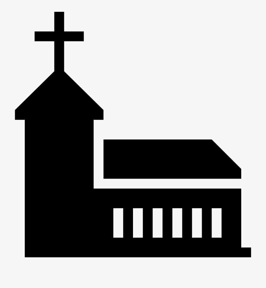 Christian Church Scalable Vector Graphics Computer - Silhouette Of A Christian Church, Transparent Clipart