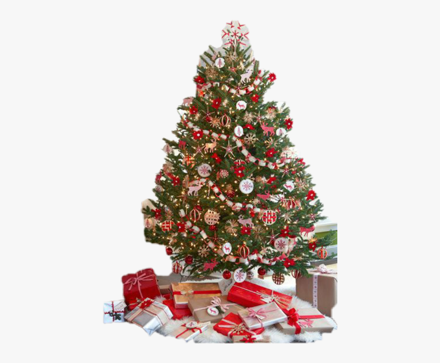 Transparent Whimsical Christmas Tree Clipart - Traditional Christmas Tree Decoration, Transparent Clipart
