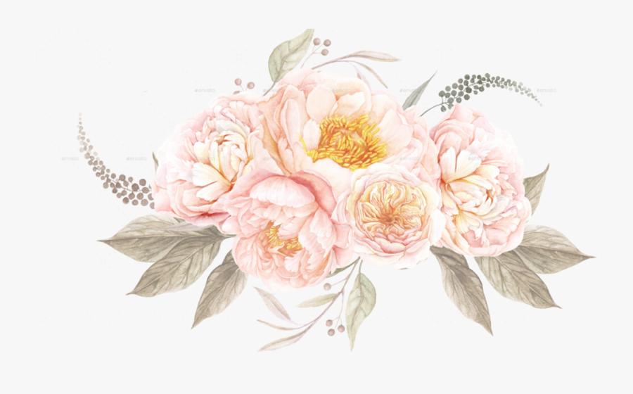Watercolor Vintage Floral - Vintage Watercolor Flowers Png, Transparent Clipart