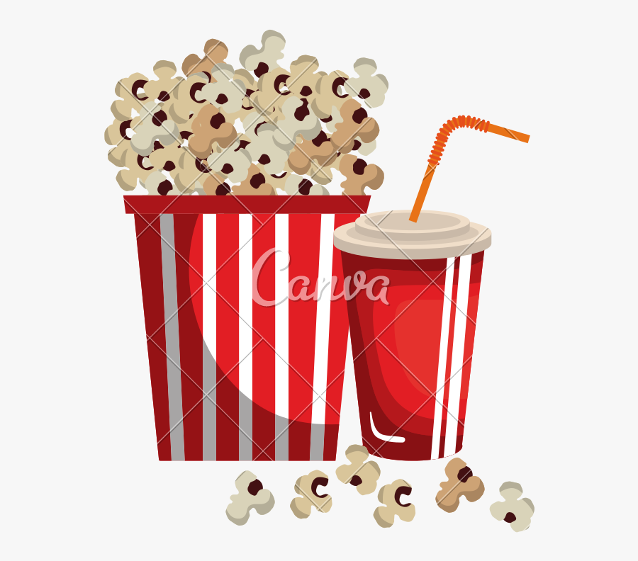 Transparent Movie Popcorn Png Popcorn And Soda Png Free Transparent Clipart Clipartkey