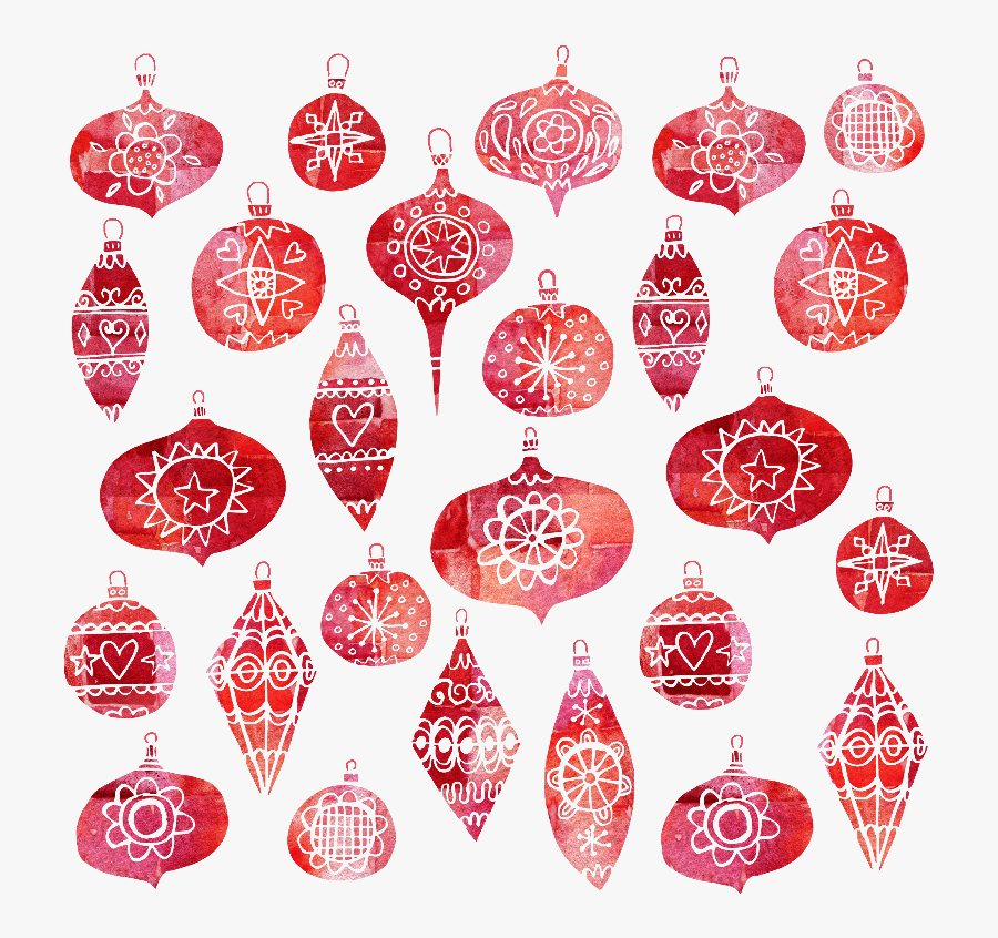 Clip Art Gifts By Nicsquirrell Zippi - Retro Christmas Ornaments Png, Transparent Clipart