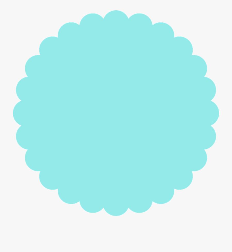 Transparent Frozen Frame Png - Scalloped Edge Circle, Transparent Clipart