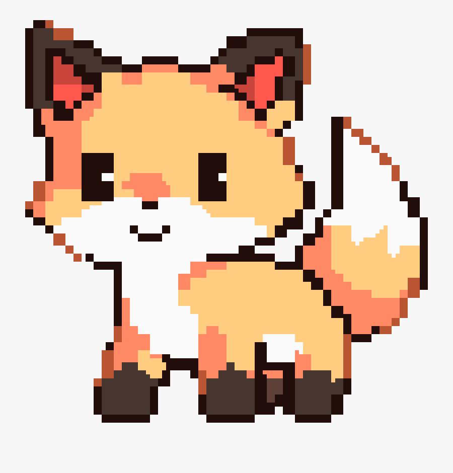 Transparent Cute Fox Png - Cute Pixel Art Animals, Transparent Clipart
