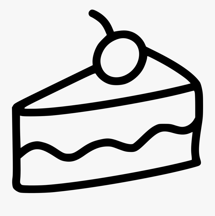 Slice Of Cake Ii - Cake Slice Drawing Png , Free ...