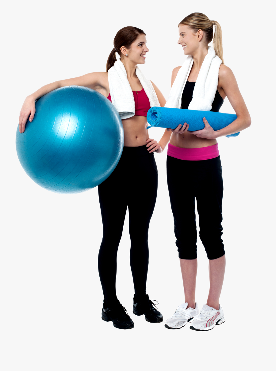Two Girls At The Gym Clipart , Png Download - Transparent Fitness People Png, Transparent Clipart