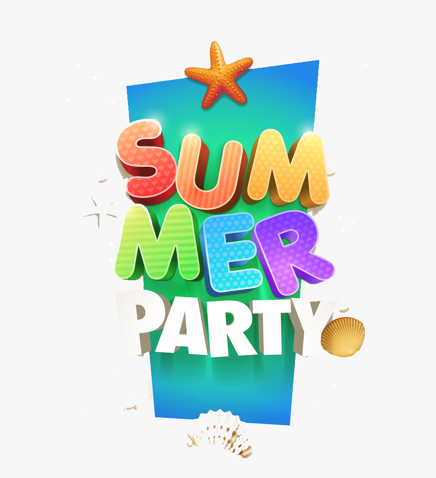 Clipart Summer Party - Starfish, Transparent Clipart