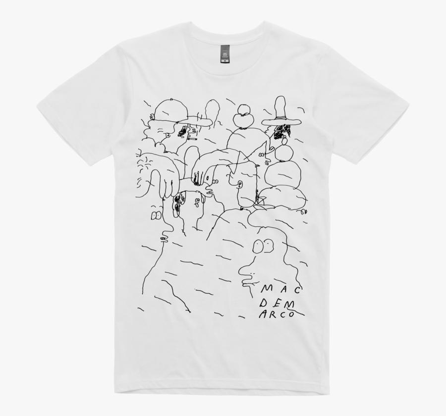 People Doodle / White T Shirt - Mac Demarco Shirt Art, Transparent Clipart