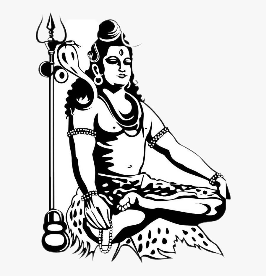 #har Har Mahadev Sticker - Black And White Mahadev, Transparent Clipart