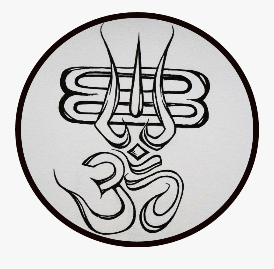 Transparent Hinduism Symbol Png - Om Drawing, Transparent Clipart