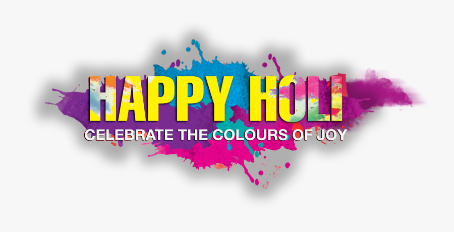 Happy Holi Text Png - Transparent Happy Holi Png, Transparent Clipart