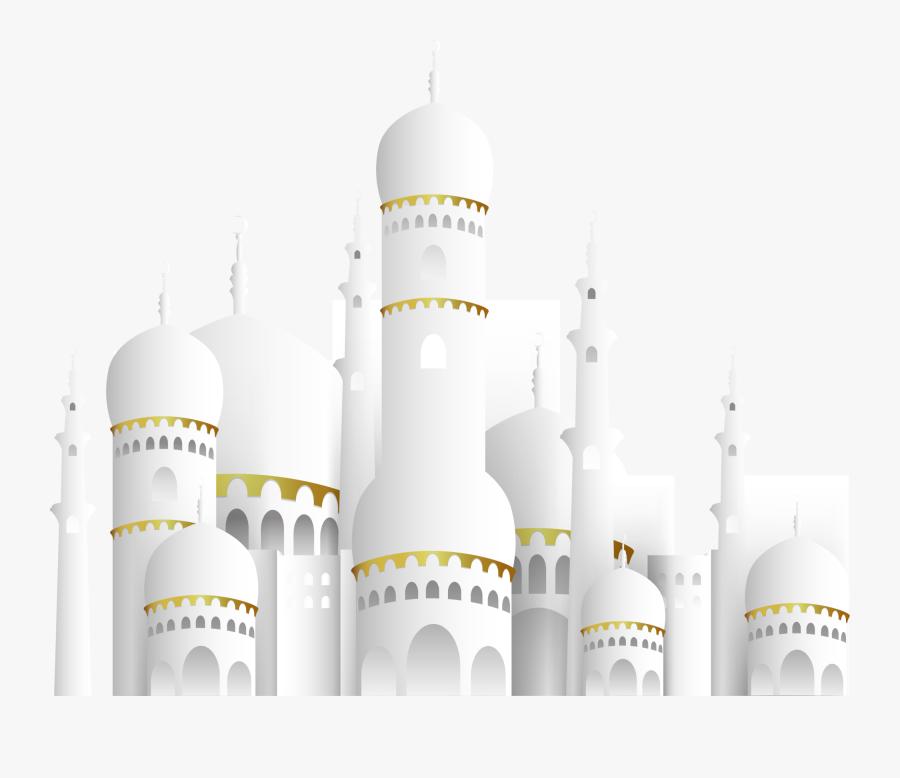 Mubarak Ramadan Islamic Eid Church Al-fitr White Clipart - Eid Mubarak Picsart Background, Transparent Clipart