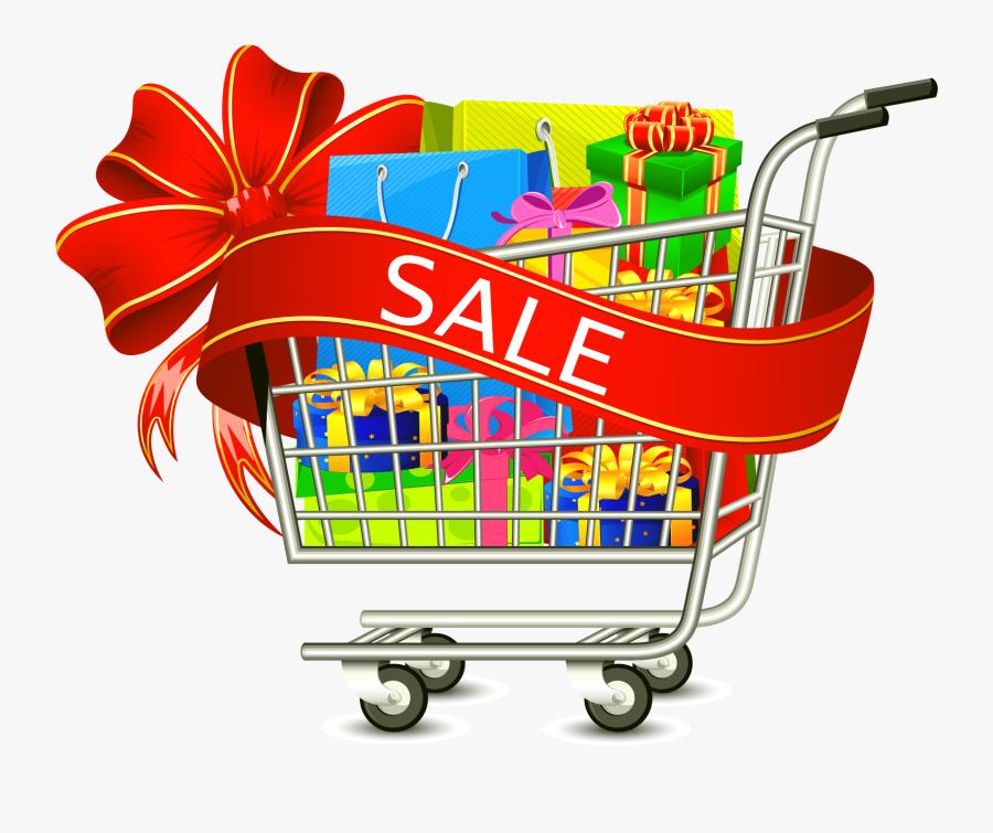 Discount Clipart Shopping Cart - Online Shopping Cart Png, Transparent Clipart
