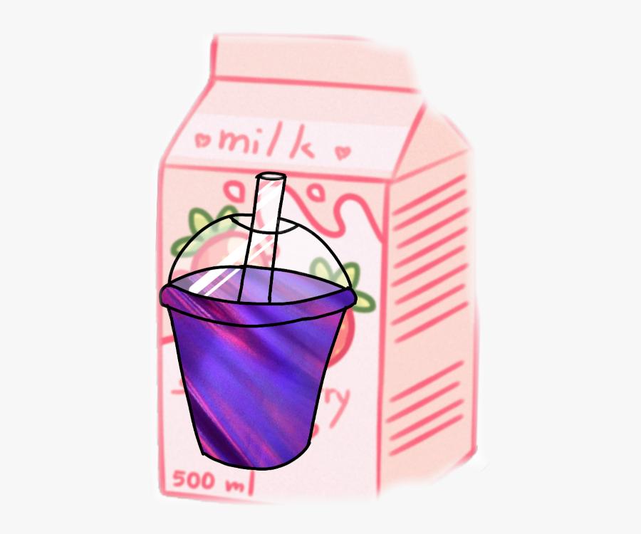 Transparent Parfait Clipart - Pastel Milk Carton Aesthetic, Transparent Clipart