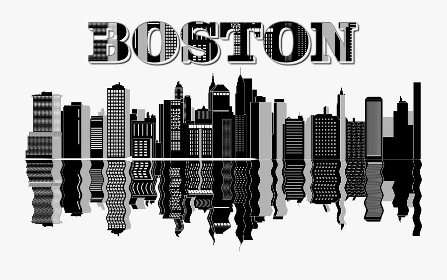 Cityscape Skyline Clip Art - Boston Skyline Clip Art, Transparent Clipart