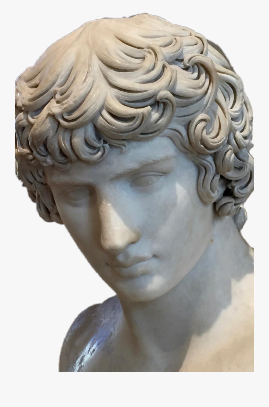 #greek #statue #art #vapowave - Greek Sculpture Head, Transparent Clipart