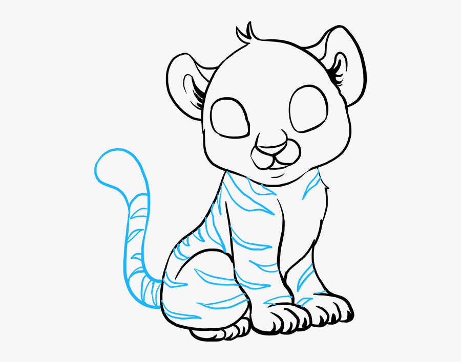 How To Draw Baby Tiger - Draw A Baby Tiger, Transparent Clipart