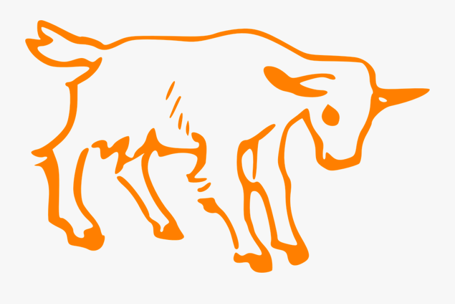 Goat, Sick, Small, Animal, Sad, Young, Orange - Goat Outline, Transparent Clipart