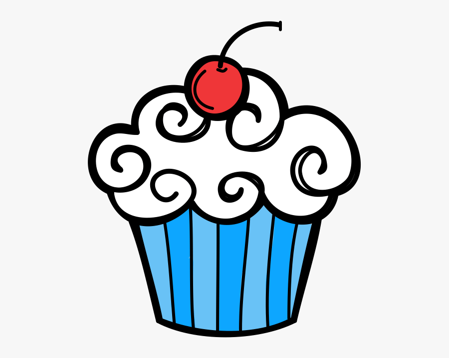 Cupcake Clipart January - Cupcake Clipart Black And White , Free  Transparent Clipart - ClipartKey