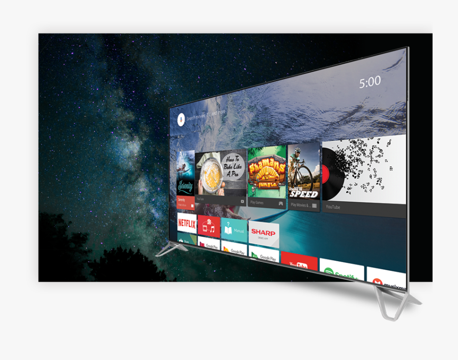 Entertainment Tailored For You - Sharp Tv 60 Inch Android, Transparent Clipart