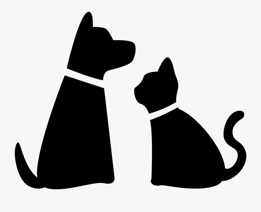 Pet Sitting Dog Walking Cat - Cat And Dog Silhouette Png, Transparent Clipart