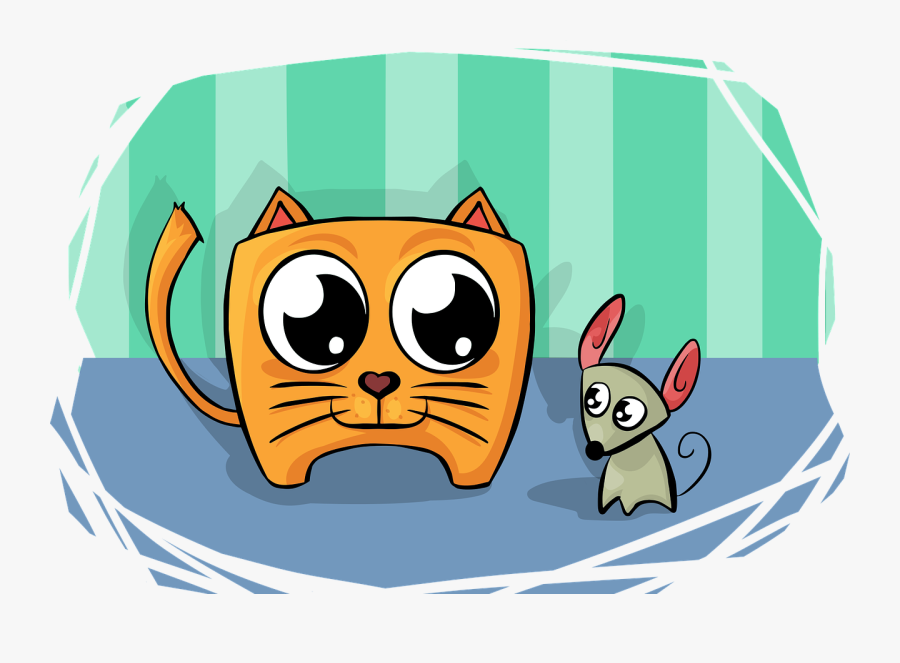 Cat Mouse Friend Free Picture - Besties Forever, Transparent Clipart