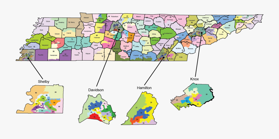 Of Tennessee Secretary State - Tennessee State House Districts, Transparent Clipart