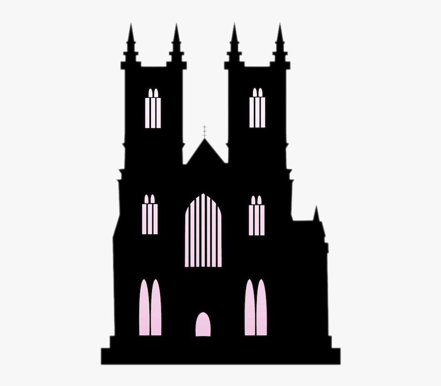 Church Silhouette Building Clip Art - Transparent Black Castle, Transparent Clipart