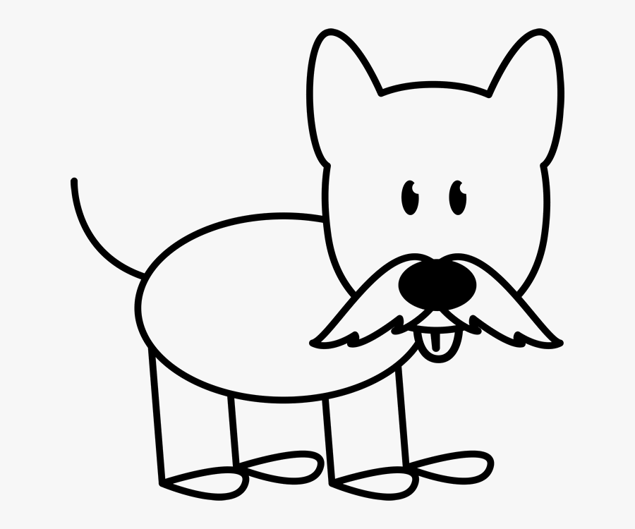 Dog With Mustache Outline Stamp Stick Figure Stamps - Stick Figure Dogs, Transparent Clipart