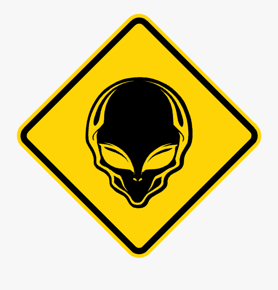 Alien Crossing Sign - Winding Right Road Signs, Transparent Clipart